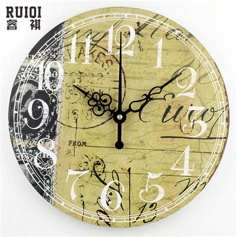 decorating inexpensive decorative wall clocks for vintage home decor wall clock fashion silent bedroom