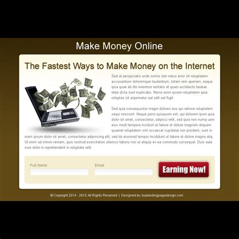 design online and earn money make money online ppv landing pages for online business