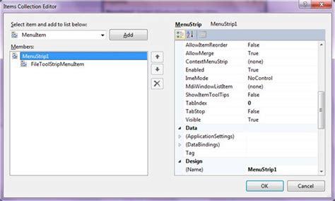 design menustrip c menustrip in c