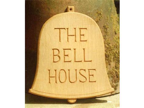 Handmade House Signs - bell house handmade sign woodcott bespoke carved