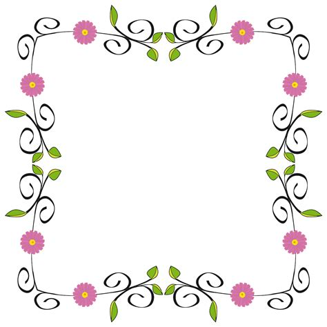 flower clip free pictures floral border clipart drawings sketch