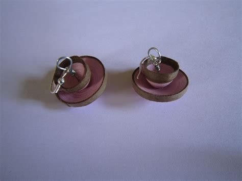 Paper Jewellery Earrings - handmade jewelry paper quilling cup saucer earrings
