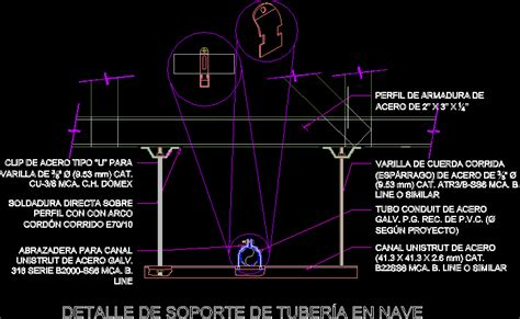 pipe layout en espanol pipe support detail electric dwg detail for autocad