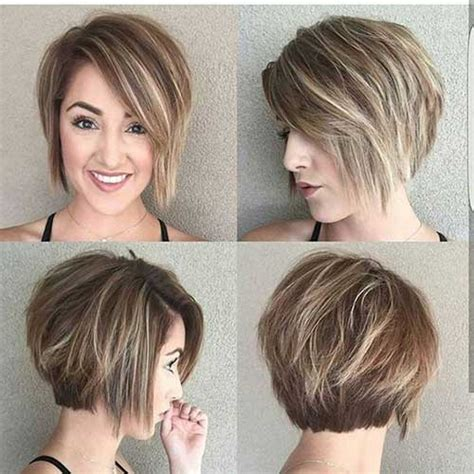 graduated bob hairstyles for round faces layered short haircuts for round face 2018 hairiz