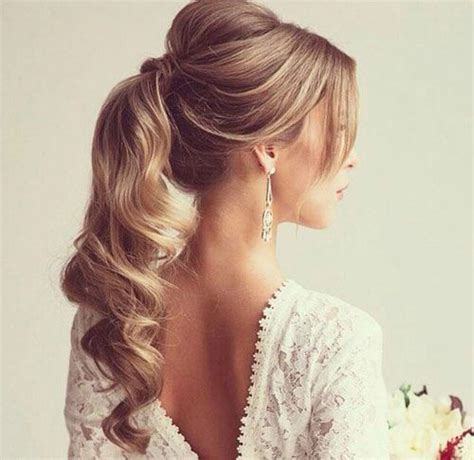 13 stunning ponytail hairstyles for curly hair pretty wedding hairstyle for long hair 30 cute ponytail