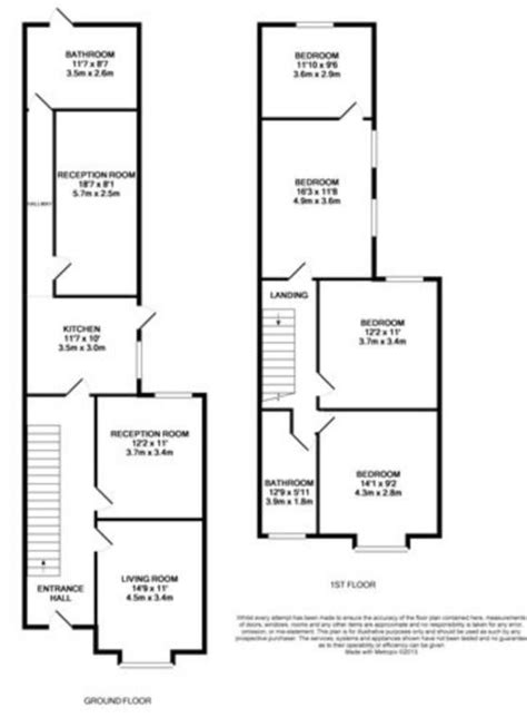 terraced house floor plan terraced house floor plans uk house design plans