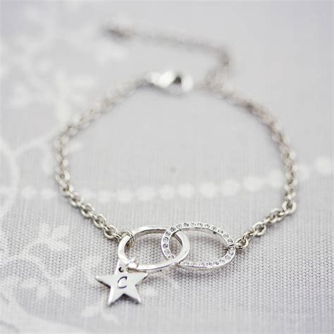 infinity charm bracelets personalised charm infinity bracelet by j s jewellery