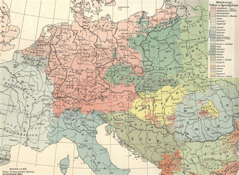 map of central europe linguistic maps of europe languages of europe