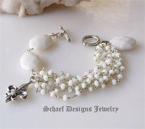 Handmade Gemstone Jewelry Designs - schaef designs white opal quartz sterling silver