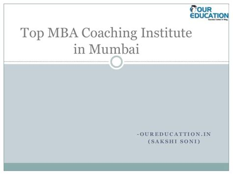 Marketing In Mumbai For Mba Experienced by Top Mba Coaching Institute In Mumbai Ppt