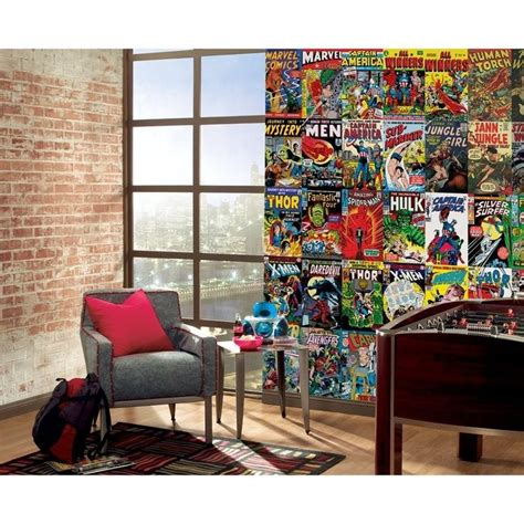 marvel bedroom decor marvel comics wall mural children kid s room decorating