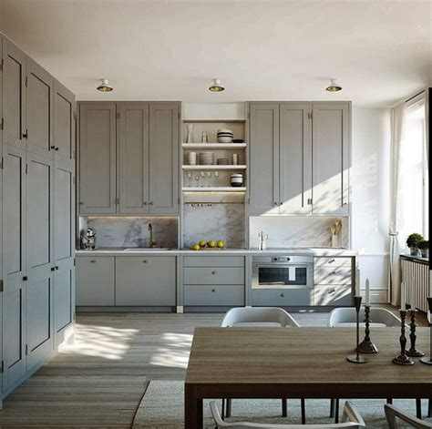 medium gray color in kitchens