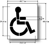 handicap parking stencils for parking lots