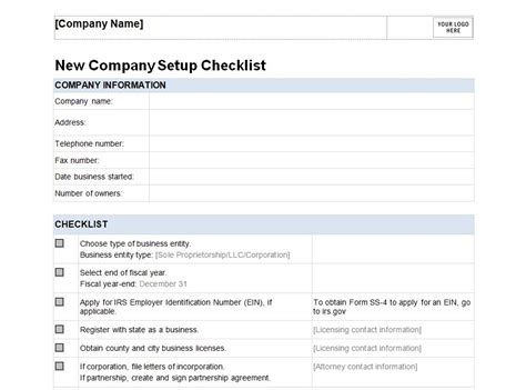 new business checklist template business templates free business templates