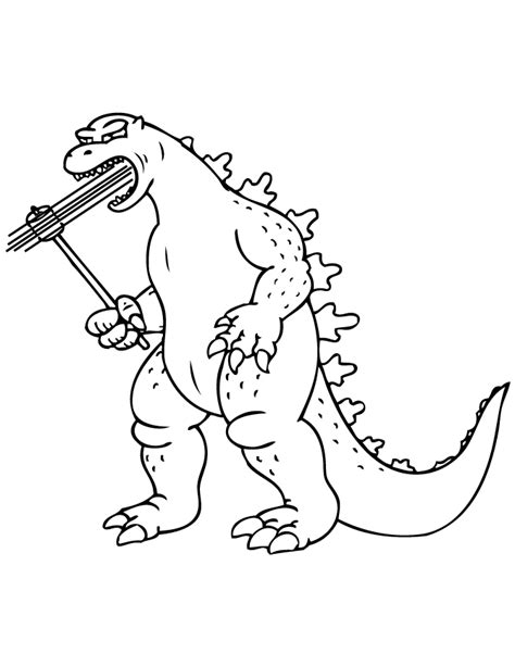 free godzilla coloring pages coloring home