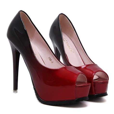shoes with heels gradient peep toe high stiletto heels prom shoes