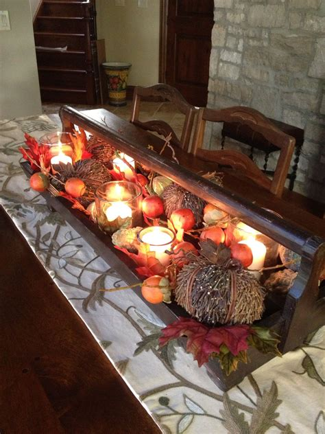 toolbox christmas centrpiece fall centerpiece from wood tool box ideas wood tool box wood tools