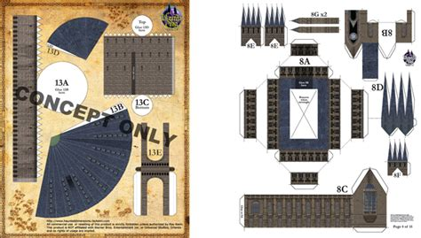 Harry Potter Papercraft Templates - hogwarts castle paper model www pixshark images