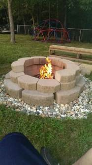 Fire Pit Block Adhesive - build a fire pit from cement landscape blocks diy projects for everyone