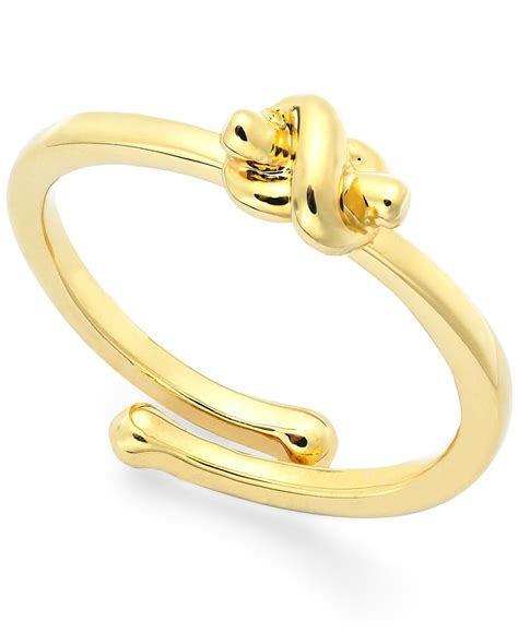 Kate Spade Gold Preloved kate spade gold tone knot adjustable ring in gold lyst