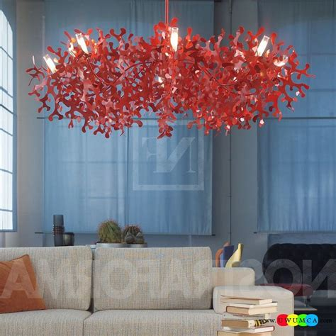 red coral home decor decoration diy coral l shade coral light pendant