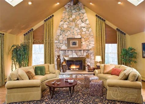 family room window treatments angled window treatment curved sofas eclectic family