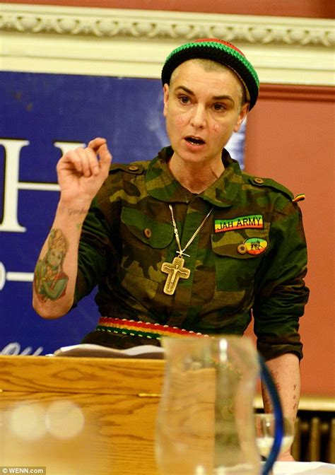sinead o connor wears bizarre army uniform for catholic
