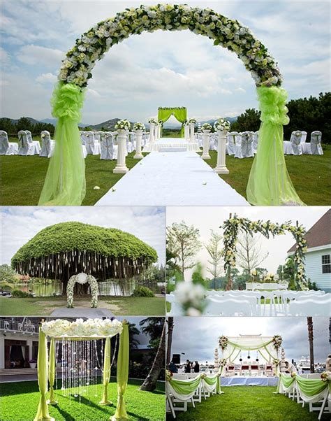 Wedding Backdrop Green by 5 Green Wedding Decorations That Will Leave You Speechless