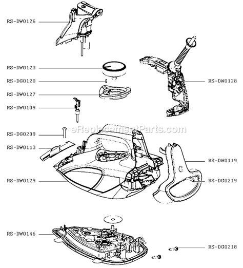 rowenta iron parts diagram rowenta dw5080u1 parts list and diagram