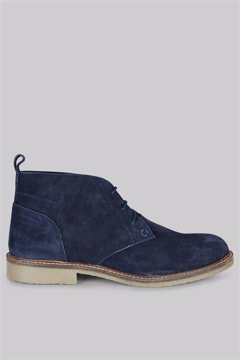 moss navy suede desert boots