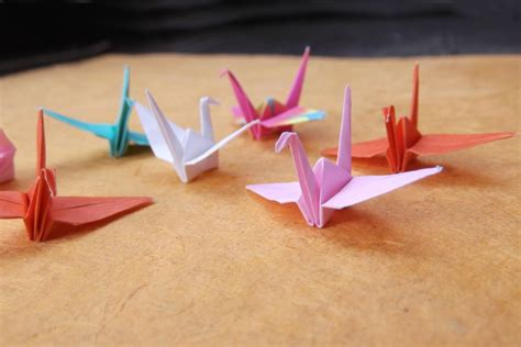 Mini Origami - mini origami crane in assorted colors and patterns