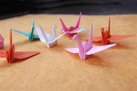 Mini Origami - mini origami crane in assorted colors and patterns