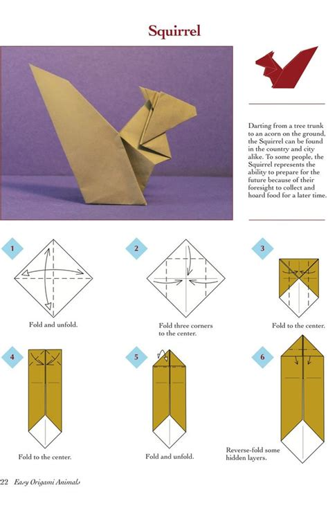 Easy Origami Squirrel - 25 best ideas about easy origami animals on