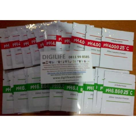 Cara Kalibrasi Alat Ukur Ph Air ph meter calibration powder cairan kalibrasi ph meter