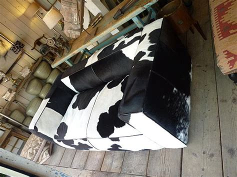 cow couch black and white cow hide couch