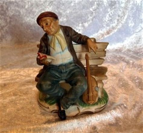 capodimonte man on bench capodimonte style figurine old man on bench with violin ebay