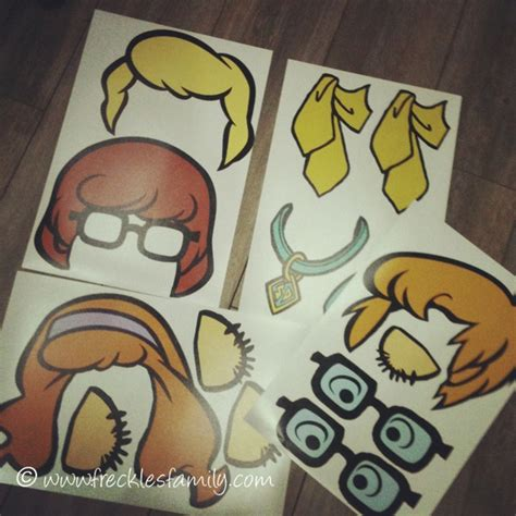 printable scooby doo photo booth props free scooby doo photo props photo props pinterest