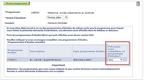 Demande De Lettre D Admission Ajout Et Changement De Programme Universit 233 De Montr 233 Al Guide D Admission