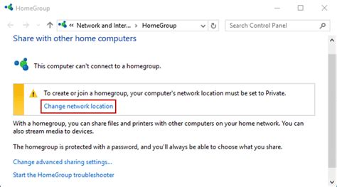 how to change network from to in windows 10
