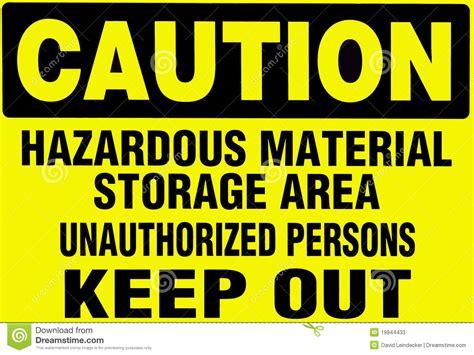 contoh authorized biography caution sign warning of hazardoud materials stock image