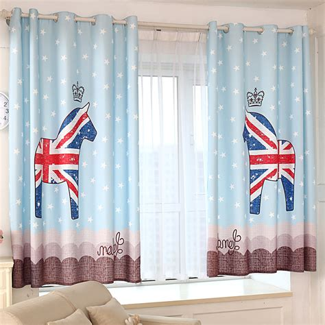 blue patterned curtains uk funky blue horse patterned uk nursery curtains