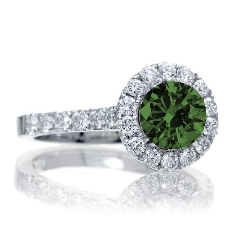 1 5 carat classic halo emerald and engagment
