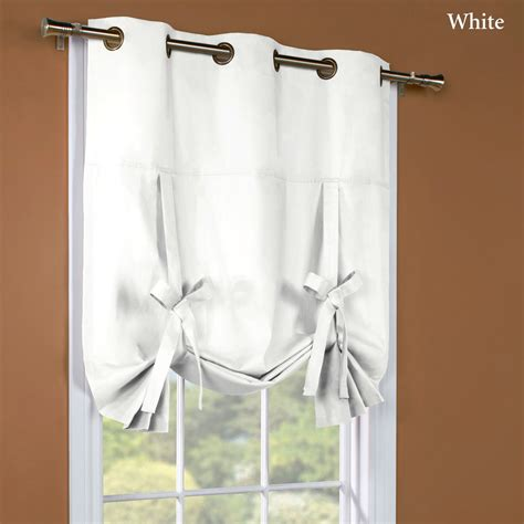 tie up curtain shade weathermate solid thermalogic tie up shade