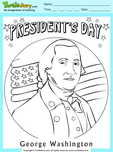 george washington coloring page for kindergarten george washington coloring sheet turtle diary
