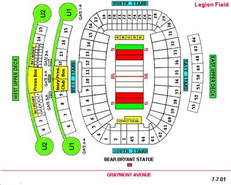 tider insider legion field seating chart