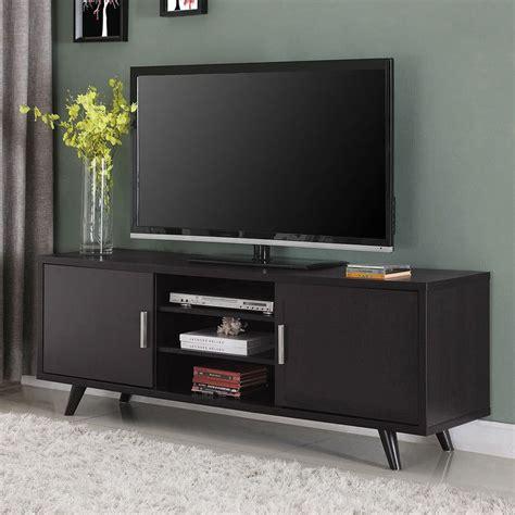 mid century modern tv console   doors tv stands