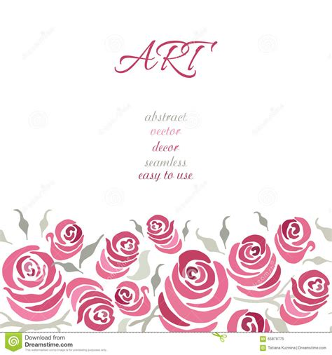 romantic invitation card design romantic card design with hand painting roses and leaf