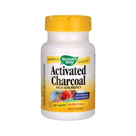 Activated Charcoal Carbon Detox by Activated Charcoal 280 Mg 100 Caps