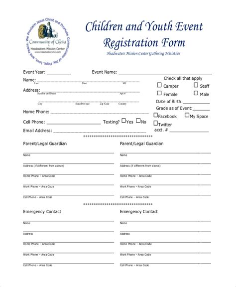 Event Registration Form Template 12 sle event registration forms sle forms