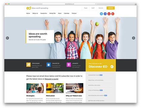 Education Themes In Wordpress Free | 32 awesome responsive wordpress education themes 2018